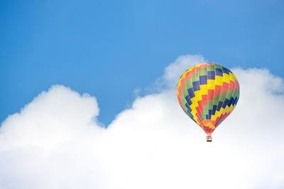 Cloud CRM - cloud and hot air balloon